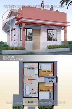 Small House Layout, Modern Small House Design, House Layout Plans, Tiny House Design, House Front Design, House Layouts, Simple House Design, Little House Plans, My House Plans