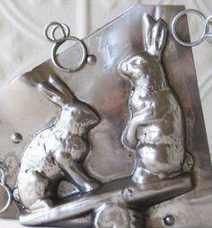 antique rabbit chocolate mold