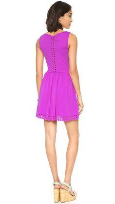 Mara Laser Cut Dress- Susana Monaco