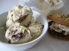 Chocolate Chip Cookie Ice Cream - no cook, no churn