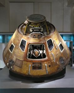 "Apollo 10 Command Module, Science Museum, South Kensington, London. (Image: Science Museum) ©Mona Evans, ""Space at the Science Museum London"" http://www.bellaonline.com/articles/art179333.asp"
