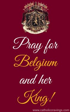Will you pray for Belgium and her King? King Philippe is a faithful Catholic and he needs our prayers against this awful Child Euthanasia law.