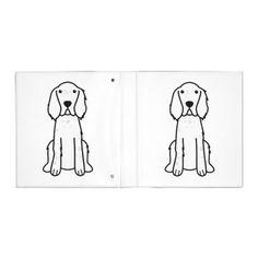 English Setter Dog Cartoon 3 Ring Binders
