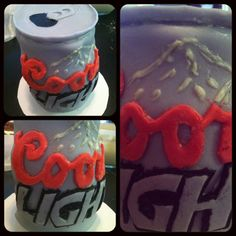 Coors Light Cake oh im so gonna try to make this for my sweet hrts bday, he will absolutley love this Redneck Birthday, Dad Birthday, Coors Light, Light Beer, Cupcake Cakes, Cupcakes, Light Cakes, Best Sweets, Good Spirits