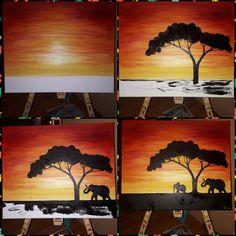 Elefantenbild Acryl in 4 Schritten