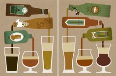 Pouring Bottles by Nick Matej, via Behance