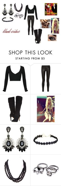 """""""Black Widow by Iggy Azalea"""" by themortalinstrumentslover ❤ liked on Polyvore featuring WithChic, Helmut Lang, GUESS, Betsey Johnson, women's clothing, women's fashion, women, female, woman and misses"""