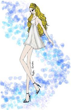 Illustration by Raffa Sanches - deviantART   #illustration #art #fashion #summer #digital
