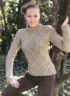 Blusa tejida en crochet