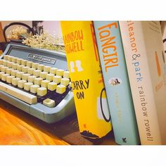 Day 4 Author Collection: Rainbow Rowell  #bookstagram #bibliophile #books #bookish #bookhaul #bookslut #bookstoreaddict #bookstagrammer #newbookstagram #newbooksmell #rainbowrowell #carryon #eleanorandpark #fangirl #typewriter #writer #reader #yafiction #goodvibes #bliss #latergram #marchbookchallenge by paperback_nomad