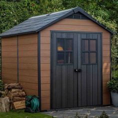 Newton Plastic Apex Shed Keter Sheds, Garden Structures, Outdoor Structures, Plastic Sheds, Riding Lawn Mowers, Hybrid Design, Painting Plastic, Garden Equipment