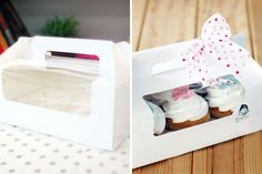 White Window Boxes | 18 Ways to Package Your Cupcakes