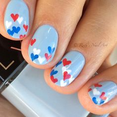 4th of July Nails #ruthsnilart #nailart