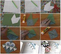 Cute homemade bookmark monsters :)