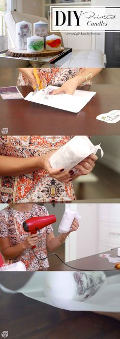 DIY Super Easy Print on Candles! Great gift idea and totally Customizable !!!  | www.annlestyle.com