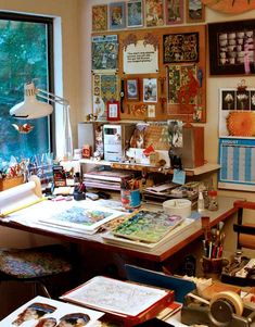 Art Studio Room, Art Studio Design, Art Studio At Home, Small Room Interior, Artist Workspace, Art Desk, Art Corner, Workspace Inspiration, Home Room Design