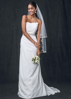 WG3457Taffeta Strapless A-line Wedding Gown Style WG3457 from David's Bridal
