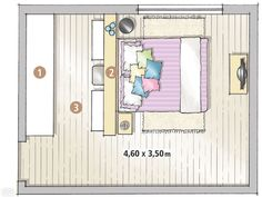 Quarto de casal com closet por 10 X R$ 483 - Casa
