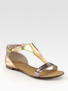 Metallic T-Strap Sandal by Boutique 9; $79 #Sandal #Boutique_9