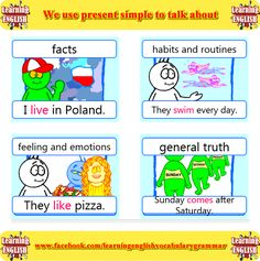 We use present simple to talk about