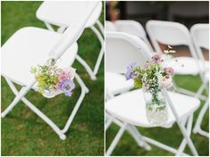 Caroline and James Barn Wedding With Funfair Games and an Outdoor Ceremony. By Alexandra Jane Wedding Isles, Boho Wedding, Wedding Blog, Wedding Isle Decorations, Table Decorations, White Metal Chairs, Wedding Chairs, Outdoor Ceremony, Singing Tips