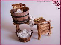My tiny world: Dollhouse miniatures: Wash-day