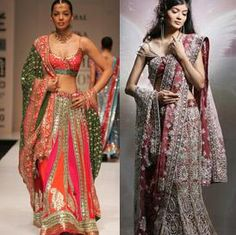 You shall be intrigued by how the same dupatta can be used to create mesmerizing traditional look or the evocative sexy appeal, just by changing the style of draping. Take inspiration for various draping styles here.