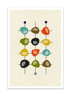 CLUSTER Giclee Print Mid Century Modern Danish Modern by Thedor Moderne Zimmer | Scandinavisch design | Wohnprojekte | Wohnzimmer Ideen | wohnzimmer design | Wohndesign | Schöner Wohnen | Moderne Wohnzimmer | architektur und wohnen www.brabbu.com