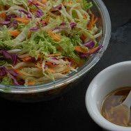 Salada Asiática com molho de Gengibre e Mel