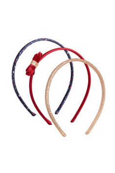 3-pack Alice bands - Red/Glittery - Kids | H&M GB