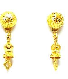 New Gold Earrings/Drops/Tops Different Design 22k(916 Pure) Bis Hallmark Glossy
