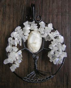 Beautiful Wire Wrapped Moonstone Tree of by RachaelsWireGarden, $50.00