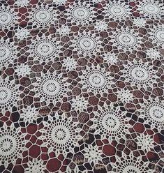 Irish Crochet, Crochet Motif, Crochet Doilies, Crochet Lace, Crochet Table Runner, Crochet Tablecloth, White Tablecloth, Vintage Crochet, Diy Crafts