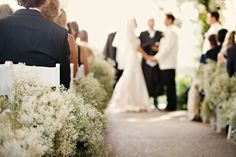 baby's breath for aisle decorations
