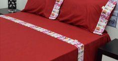 Jogo de cama estampado digital cores fortes com tintos reativos, que não debota, cores modernas para uma decoraçao jovem e alegre. tem uma barra com estampado digital  medidas: cama 90 - 105 cm 2 lençois 180 X 290 cm + 1 almofada 50 X 70 cm cama 135 - 150 cm 2 le