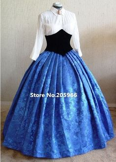 Rushed Time-limited Full Custom Made Gorgeous Civil War Style Royal Floral Brocade Victorian Ball Gown