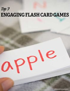 7 Engaging Flash Card Games and Free Flash Cards Multiplication Activities, Teaching Fractions, Alphabet Games, Teaching The Alphabet, Math For Kids, Fun Math, Make Flash Cards, Vocabulary Flash Cards, Math Card Games