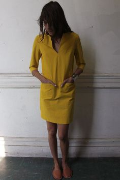 I want a shift dress like this in like 5 colors! via A well traveled woman.