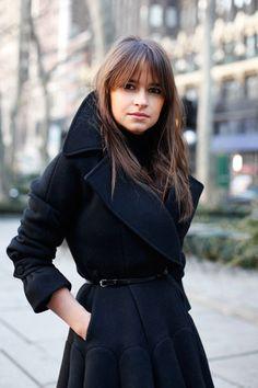dainty sherlock holmes coat in black