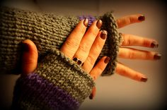 Handmade Knit fingerless gloves by MadeForYouCrafts on Etsy, $15.00