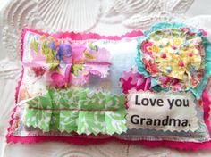 Mother's Day Sachet Lavender sachet Grandma pillow by Itsewbella, $7.25