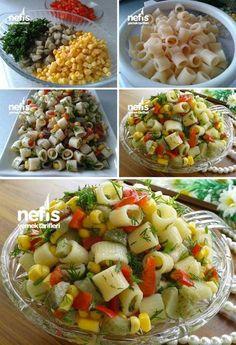 Makarna Salatası #makarnasalatası #salatatarifleri #nefisyemektarifleri #yemektarifleri #tarifsunum #lezzetlitarifler #lezzet #sunum #sunumönemlidir #tarif #yemek #food #yummy Vegetarian Recipes, Cooking Recipes, Healthy Recipes, Iran Food, Pasta Salat, Snacks Saludables, Food Carving, Appetizer Salads, Turkish Recipes