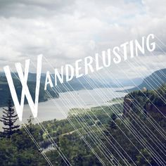 Wanderlust (n.): a strong desire for or impulse to wander or travel and explore the world {image by Jessica Hische} Typography Letters, Typography Design, Web Design, Graphic Design, Inspiration Typographie, Monospace, Wanderlust, Jessica Hische, Editorial