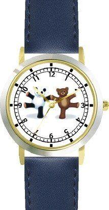 Giant Panda Plush & Teddy Bear Dancing - Bear - JP Animal - WATCHBUDDY® DELUXE TWO-TONE THEME WATCH - Arabic Numbers - Blue Leather Strap-Size-Children's Size-Small ( Boy's Size & Girl's Size ) WatchBuddy. $49.95. Save 38%!