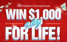 Win For Life, Publisher Clearing House, Instant Win Games, Day, Giveaway, Free