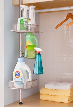 Shower Caddy as Laundry Room Organizer ~