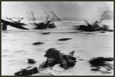 Photo: The first wave of American troops lands on Omaha Beach.