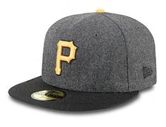 Custom Pittsburgh Pirates Wool Grey-Black 59Fifty Fitted Baseball Cap by NEW ERA x MLB