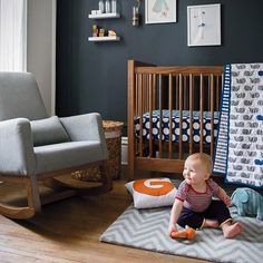 Cute meets modern with The Land Of Nod linen for cots and kids