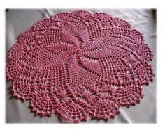 The name of the doily is Black Widow.but my version was made with ThreadArt Mauve Pink using a hook. Thread Crochet, Crochet Motif, Crochet Doilies, Crochet Stitches, Crochet Hats, Doily Patterns, Crochet Patterns, Black Widow, Mauve